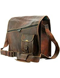 Krishna Leather Handmadecraft Mens Satchel Vintage Leather Messenger Bag Brown Handmade Shoulder