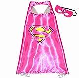 Super Girl Super Woman Super Héros de Costumes pour enfants - Cape et masque - JOUETS POUR garçons et filles - Costume pour enfants de 3 à 10 ans - pour carnaval ou la devise de fêtes. - King Mungo - KMSC009