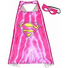 Super Girl Super Woman Super Héroes de disfraces para niños - Cape y máscara - Juguetes para niños y niñas - Disfraz para niños de 3 a 10 años - para Fasching o temática de fiestas. Mungo - King - kmsc009