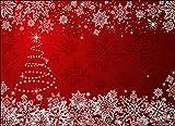 Tischsets I Platzsets - Weihnachtsbaum mit Schneekristallen - 10 Stück in hochwertiger Aufbewahrungsmappe - Die besondere Tischdekoration für die Adventszeit, Weihnachten und Jede Weihnachtsfeier