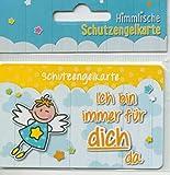 800001 Schutz(b)engel Schutzengelkarte, Schutzengel Karte, Geschenkidee, Glücksbringer, 1 Stück (Gelb)