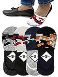 women Anti Skit Loafer Socks (Multicolor, Large) -Pack of 4