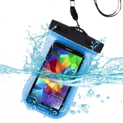5 Wasserdicht Fällen Touch Ipod (Premium wasserdicht Sport Armband Fall Tasche für iPhone 5, iPhone 5 C, iPhone 5S, iPod Touch (5. Generation), iPhone 4S/4, iPod Touch (4. Generation), iPhone 3 GS/3G (mit Lanyard) (hellblau) + mynetdeals Mini Touchscreen Stylus)