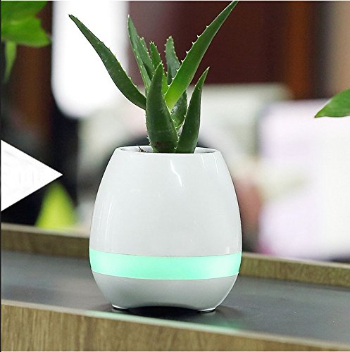 zuolan Smart Musik Bluetooth Lautsprecher Blumentopf mit LED-Licht Pflanze Piano Playing