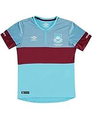 Umbro Kinder West Ham Away Fussball Trikot Kurzarm Shirt Auswaerts 2015 2016