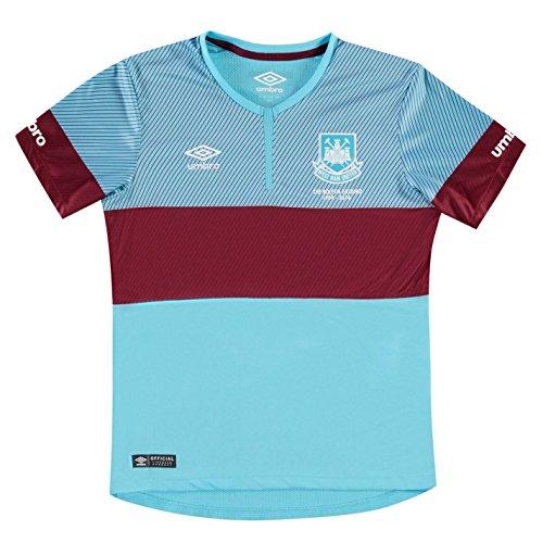 Umbro Kinder West Ham Away Fussball Trikot Kurzarm Shirt Auswaerts 2015 2016 Bluefish 13 (XLB)
