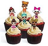12LOL sorpresa muñeca precortadas comestible cupcake toppers-Stand Up oblea decoraciones para tartas