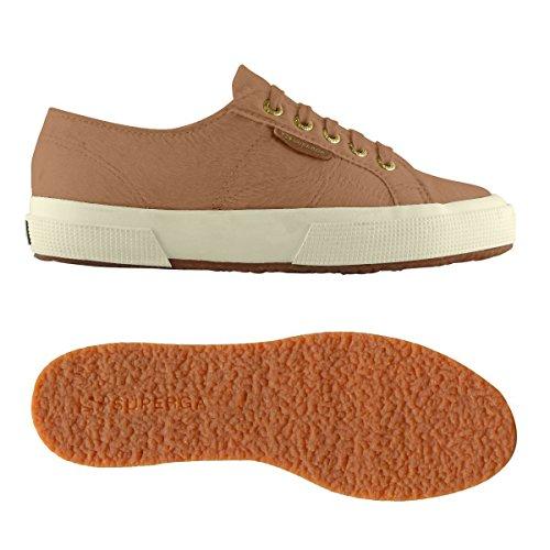Superga 2750-LEAHORSEW Damen Hohe Sneakers Camel