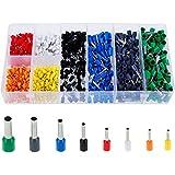 Faburo 800er Aderendhülsen Sortiment Kabelschuhe Set Mit 8 Farben ,Elektrische Verzinnte Kabelschuhe Set Aderend-Isolierhülsen aderendhuelsen