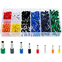 Faburo 800pcs Terminales cables electricos - Multi-tama?o Terminal para Cableado Eléctrico y Cables Conector Aislante de Cable( Multicolor )