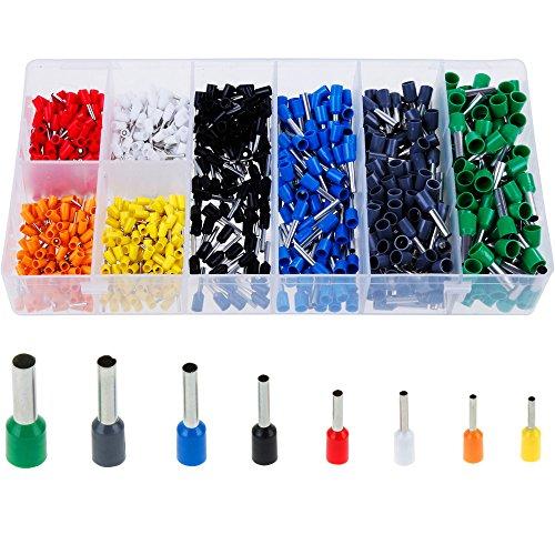 Faburo 800er Aderendhülsen Sortiment Kabelschuhe Set Mit 8 Farben ,Elektrische Verzinnte Kabelschuhe Set Aderend-Isolierhülsen aderendhuelsen -