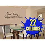 Our Family - Wall Decal Sticker Quote (Medium)