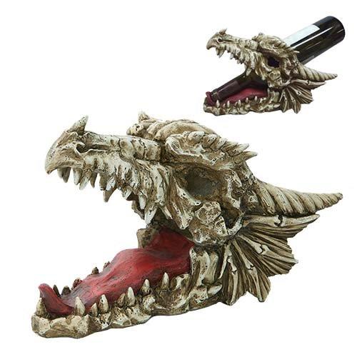 Pacific Giftware Drachen Totenkopf Weinflaschenhalter