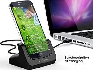 KiDiGi USB-Dockingstation für Samsung Galaxy S IV GT-i9500 schwarz