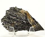 HQRP 180carati nero Cianite spray minerale naturale lama Crystal Gemstone Cab–Brasile