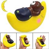 TAOtTAO Squishy Baby Bär Schlafen auf Mond Charme langsam Steigende Squeeze Stressabbau Spielzeug