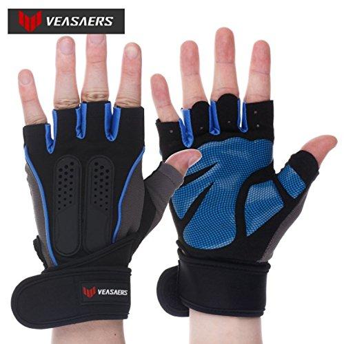c8ad9a19cc8f Guantes de ejercicio VEASAER Premium ajustables, para gimnasio,  entrenamiento, muñequeras, crossfit, levantamiento de pesas, levantamiento  de ...