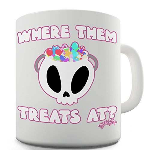 Lustige Kaffee Tasse Becher Halloween Where Them Treats -