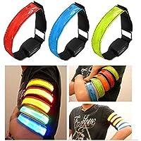 Bazaar LED Sicherheit Reflektierende Armband Flashing Gurt Bügel Handgelenk Arm Verpackungs Band