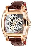 Invicta Homme 'Réserve' automatique en acier inoxydable et de cuir décontractée montre, couleur: marron (modèle: 22836)