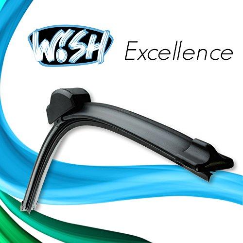 """2 x Wish® Excellence 26\"""" 650mm / 14\"""" 350mm Satz Front Scheibenwischer Wischblätter Vorne Flachbalkenwischer"""