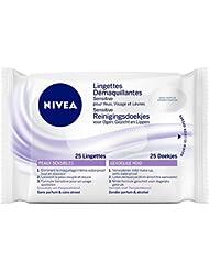 Nivea Lingettes démaquillantes Sensitive x 25 - Lot de 4