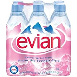Evian Natural Spring Mineral Rich Water - 500 ML (Pack Of 6)