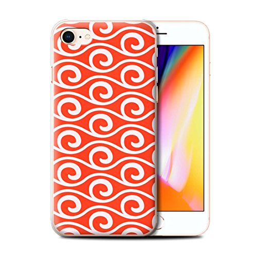 Stuff4 Hülle / Case für Apple iPhone 8 / Multipack / Wellenmuster Kollektion Rot