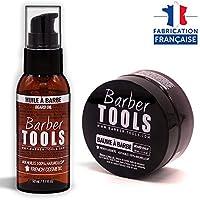 ✮ BARBER TOOLS ✮ Kit de barba cosmética - Oil de barba 50ml + Bálsamo para barba - 50ml   Para el mantenimiento y cuidado de la barba - MADE IN FRANCE