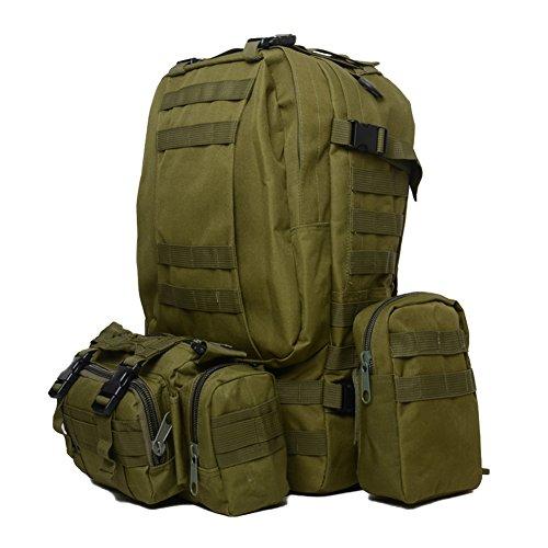 Zaino da trekking campeggio zaino borse zaini outdoor sports, Army Green Army Green