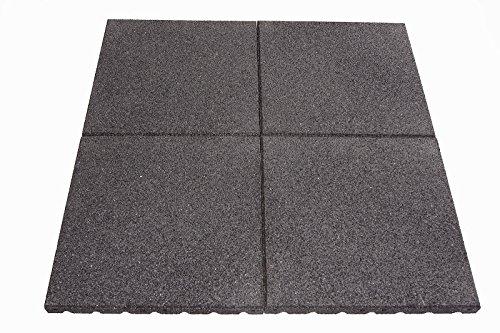 Fallschutzmatten Set 1m² TINA (Stärke 30mm) mit Steckverbindung, Granulatmatte, Fallschutzmatte, Bodenmatte, Sportmatte, Farbe: Schwarz