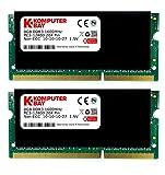Komputerbay 16GB (2x8GB) DDR3 PC3-12800 1600MHz SODIMM 204-Pin Laptop-Speicher 10-10-10-27 mit schwarzem Heatspreader