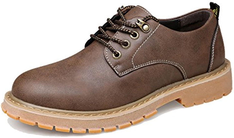 LEDLFIE Herren Lederschuhe Freizeitschuhe Vintage Arbeitsschuhe Martin Short Boots