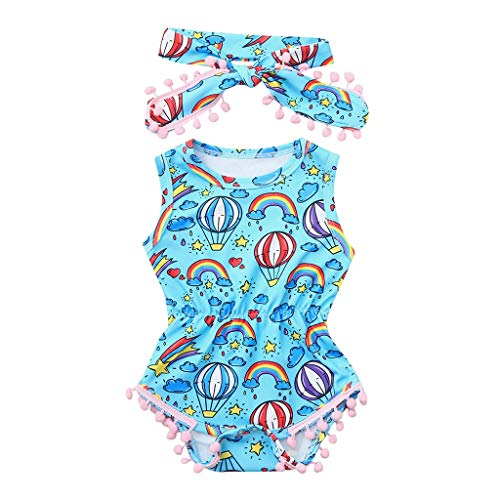 Baby Romper Tensay Infant Baby Girl Kid Newborn Lace Bowknot Floral Button Bodysuit Sunsuit Outfits