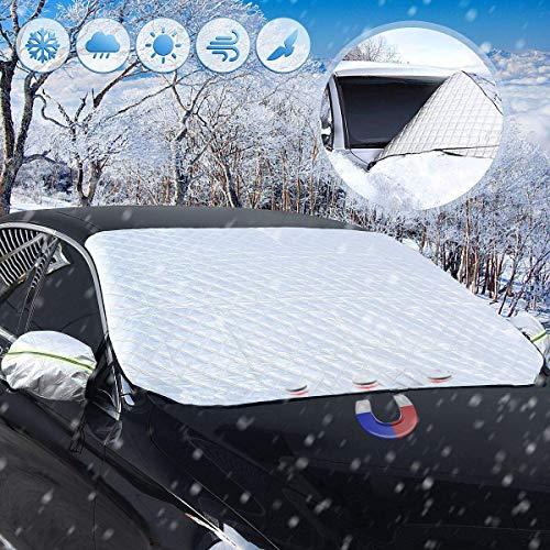 Auto Scheibenabdeckung, Frontscheibe Magnetische Frostabdeckung Autoscheiben-Abdeckung mit 2 Ohren abdecken Winterabdeckung Hitzeschutz UV-Schutz Sonnenblende Frontscheibe Frostabdeckung für Vans