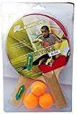 #8: Krazy Vortex Table Tennis Set For Kids & Youth (2 Rackets & 3 Balls)