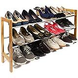 3 niveles para zapatos, pasillo, entrada organizador de zapatos para armario, extensible (61 cm a 117cms)