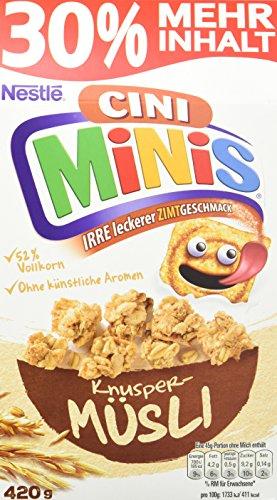 Nestlé Knuspermüsli, Cini-Minis, 5er Pack (5 x 410 g)