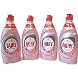 () New Fée Clean & Care Rose et satiné avec Dermaprotect Plat liquide vaisselle (383ml X 4)...