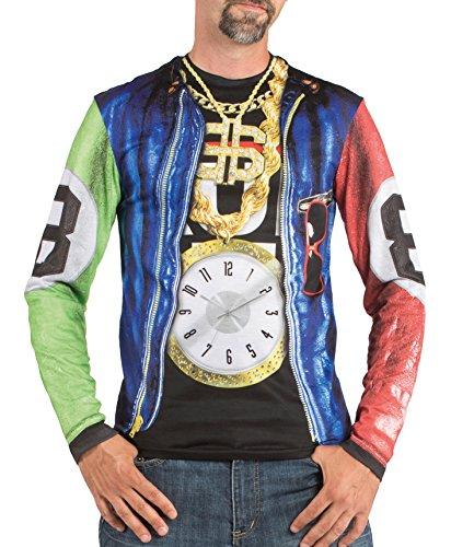 Boland 84215 - Fotorealistisches Shirt Rapper, Kostüme für Erwachsene (Gangster Halloween Kostüm Zubehör)