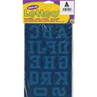 """Dritz-Soft Flock Iron-On and Letters Numbers 1,75 """"-Collegiate Royal Blue"""