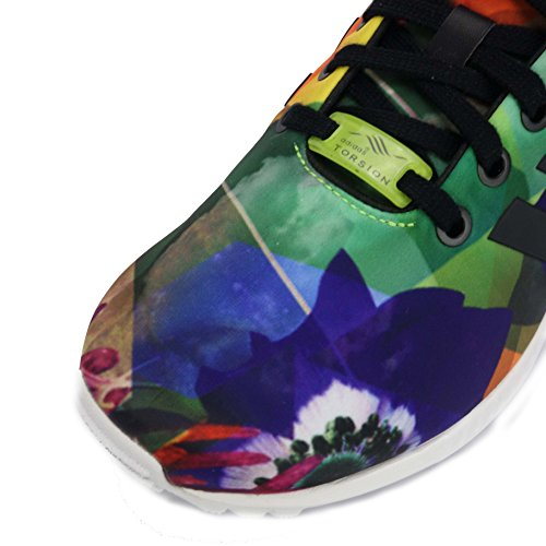 adidas Zx Flux, Baskets mode mixte adulte Noir Multicolore