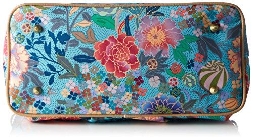 Oilily Damen M Carry All Schultertasche, 15 x 27 x 32 cm Blau (Pool Blue)