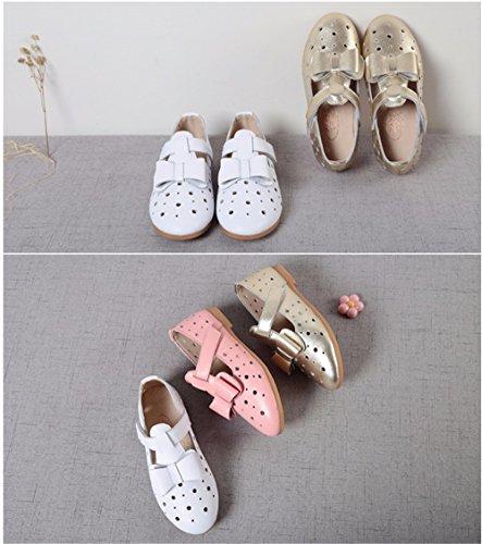 Chaussures ajourées pour bébé filles Princess Princess Partie Mary Jane Chaussures Casual Chaussures de Princesse de l'École de soirée partie demoiselle d'Bar Chaussures de danse Rose