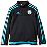 adidas Jungen Sweatshirt Langarm Shirt FC Schalke 04 Training, Night Grey/Super Cyan S12, 176