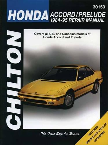 Honda Accord and Prelude, 1984-95 (Chilton total car care) por Chilton Automotive Books