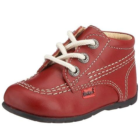 Kickers Kick Hi, Unisex - Kinder Babyschuhe , Rot - rot - Größe: 17 EU (1 Kinder UK) (Baby-mädchen Eyelet)