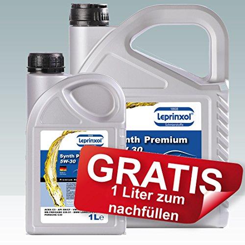 Leprinxol 5+1 Liter LSP 5W30 Motoröl FÜR Opel Mercedes und BMW Synth Premium 5W-30 Das Richtige...