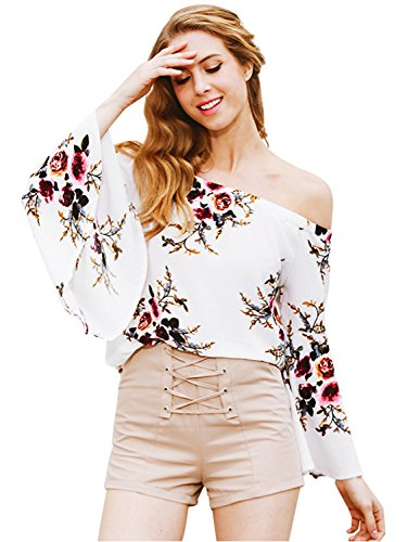 simplee-apparel-damen-sommer-casual-schulterfrei-trompete-armel-chiffon-oberteile-shirts-weiss