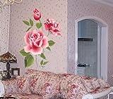 Lyanther Rose Blume Abnehmbarer PVC Wandaufkleber Home Dekor Zimmer Aufkleber große Größe
